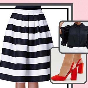 Dresses & Skirts - Striped A Line Skirt